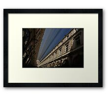 Playing With The Shadows - Brussels, Belgium Royal Galleria Framed Print