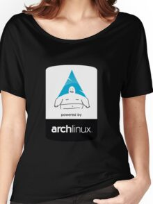 Powered By Arch Linux Women's Relaxed Fit T-Shirt