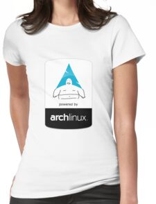 Powered By Arch Linux Womens Fitted T-Shirt
