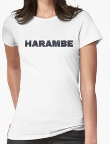 Harambe Remember Womens Fitted T-Shirt