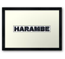 Harambe Remember Framed Print