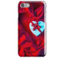 love card with heart on a red fabric iPhone Case/Skin