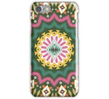 Ornamental round ethnic geometric pattern, circle background  iPhone Case/Skin