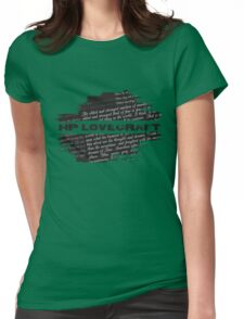 HP Lovecraft Quotes Womens Fitted T-Shirt