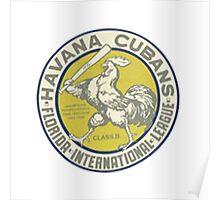 Havana Cubans Baseball Club Poster