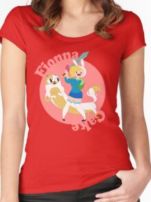 Fionna & Cake Women's Fitted Scoop T-Shirt