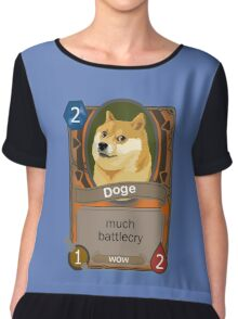 Doge Card Chiffon Top