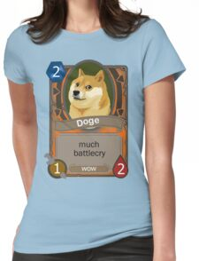 Doge Card Womens Fitted T-Shirt
