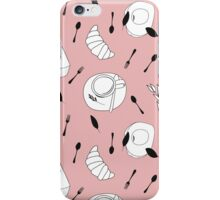 Pink breakfast iPhone Case/Skin