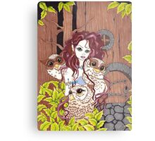 The Owl Keeper Metal Print