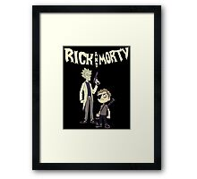 rick and morty mafia Tshirt Framed Print