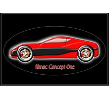 Rimac Concept One  All-Electric SuperCar Photographic Print