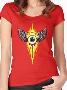 Winged Eye Women's Fitted Scoop T-Shirt