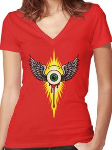 Winged Eye Women's Fitted V-Neck T-Shirt