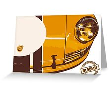 DLEDMV - Porsche Stripes Greeting Card