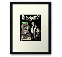 Rick And Morty TSHIRT Framed Print
