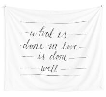 What is done in Love Wall Tapestry