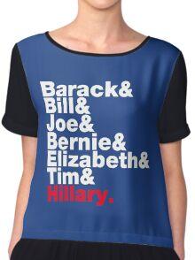 Democrats Helvetica Chiffon Top