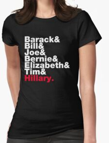 Democrats Helvetica Womens Fitted T-Shirt