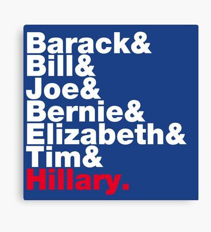 Democrats Helvetica Canvas Print