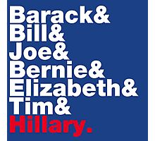 Democrats Helvetica Photographic Print