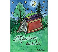 Adventure Awaits Watercolor Painting Photographic Print