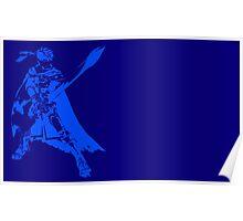 Ike Minimalist Blue Poster