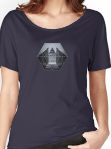 The Hotel (experimental futuristic architecture photo art in modern black & white) Women's Relaxed Fit T-Shirt