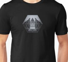 The Hotel (experimental futuristic architecture photo art in modern black & white) Unisex T-Shirt