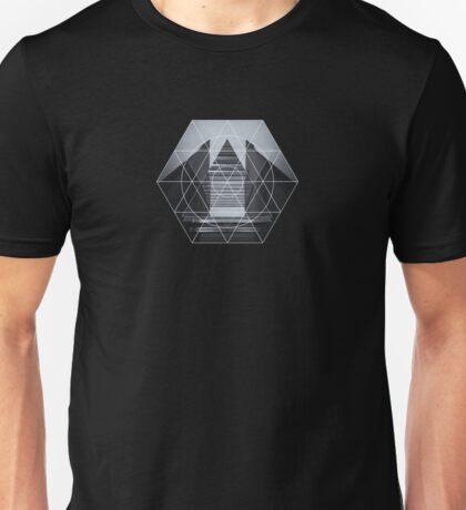 The Hotel (experimental futuristic architecture photo art in modern black & white) Unisex T-Shirt