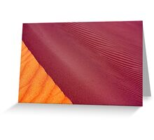 the colour of sand Greeting Card