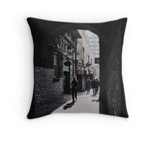 Temple Bar archway Throw Pillow