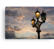 One Light Out - Westminster Bridge Streetlights, River Thames in London, UK Canvas Print