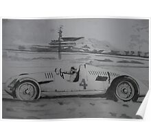Type D racing car- Auto Union (Tazio Nuvolari) Poster