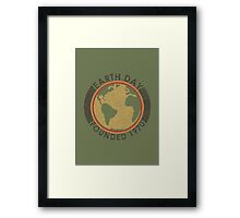 Earth Day: Old School Framed Print