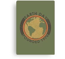 Earth Day: Old School Canvas Print