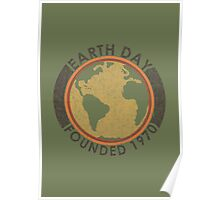 Earth Day: Old School Poster