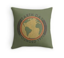 Earth Day: Old School Throw Pillow