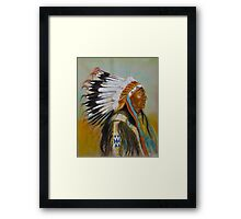 Brule-Sioux Chief Framed Print