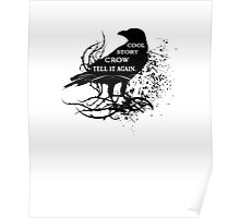 Black Crow Cool Story - Halloween Poster