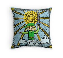 The Legend of Zelda - Link's History by AronGilli Throw Pillow