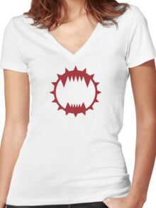 World Eaters Women's Fitted V-Neck T-Shirt