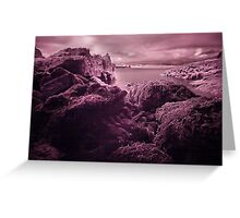 Infra Red Seaweed Rock , Broad Haven, Pembrokeshire Greeting Card