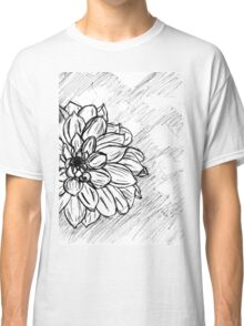 Black and White Flower Petals Classic T-Shirt