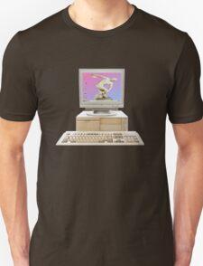 Vaporwave Statue on Vintage PC Unisex T-Shirt