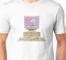 Vaporwave Statue on Vintage PC Unisex T-Shirt