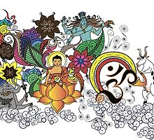 Buddha Doodle by amekamura