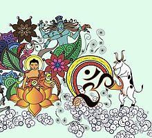 Buddha Doodle II by amekamura