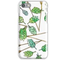 Hops and Wheat (white background) iPhone Case/Skin