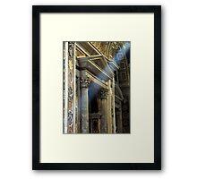 Sistine Rays Framed Print